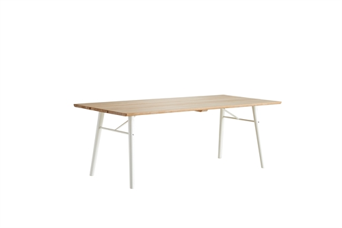 Woud design, split dining table, sæbe/hvid
