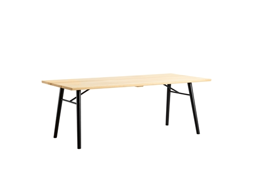 Woud design, Split dining table, sæbe/sort