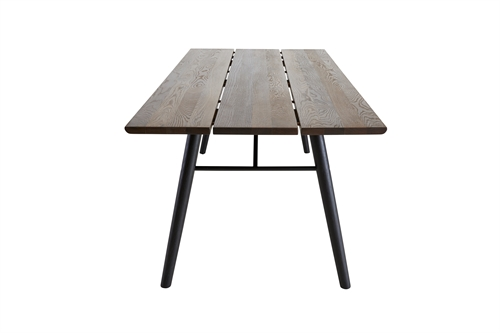 Woud design, Split dining table, røget/eg