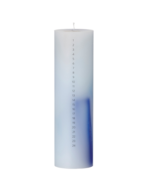 Ferm Living, Christmas candle, blue