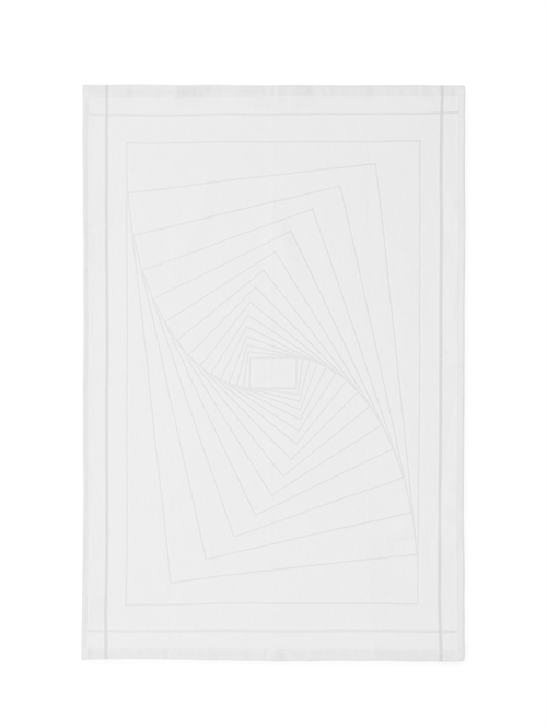 Normann Copenhagen, Illusion Tea towel, White