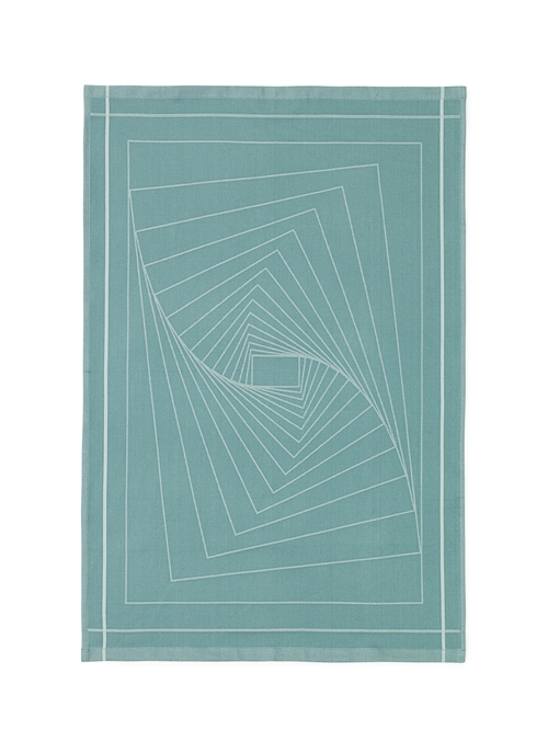 Normann Copenhagen, Illusion Tea towel, Turkis