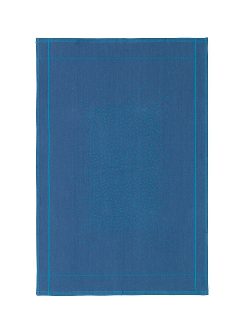 Normann Copenhagen, Illusion Tea towel, Blue