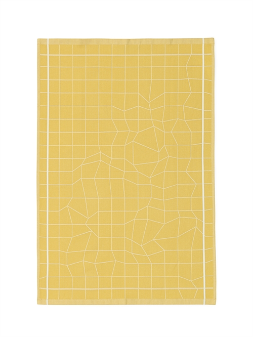 Normann Copenhagen, Illusion Tea towel, Yellow