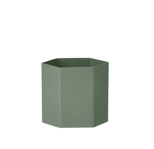 Fermliving, Hexagon pot, Dusty green, large