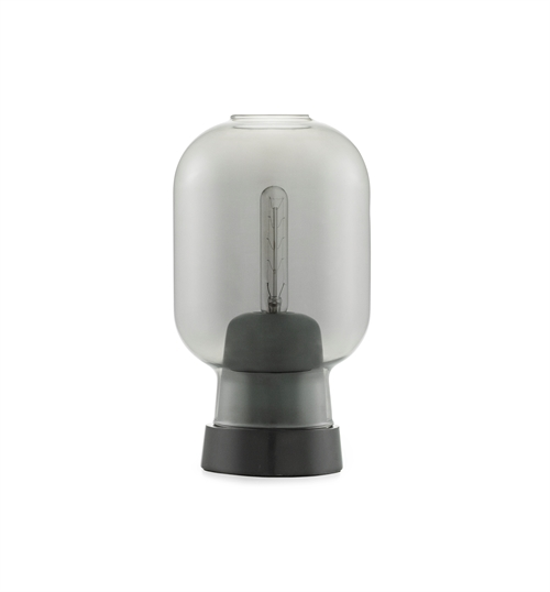 Normann Copenhagen, Amp, Table lamp, Smoke/Black