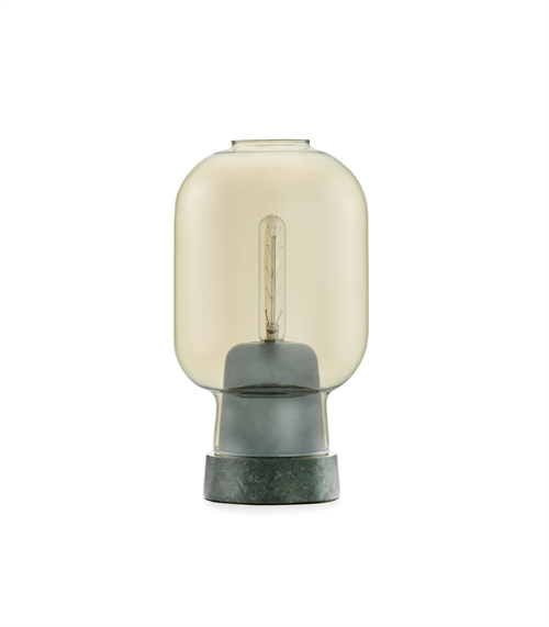 Normann Copenhagen, Amp, Table lamp, Gold/Green