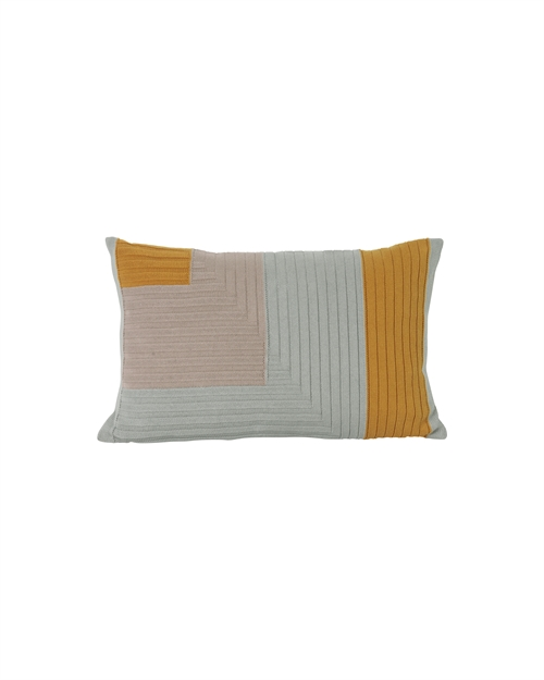 Ferm Living, Angle Knit pude, Karry