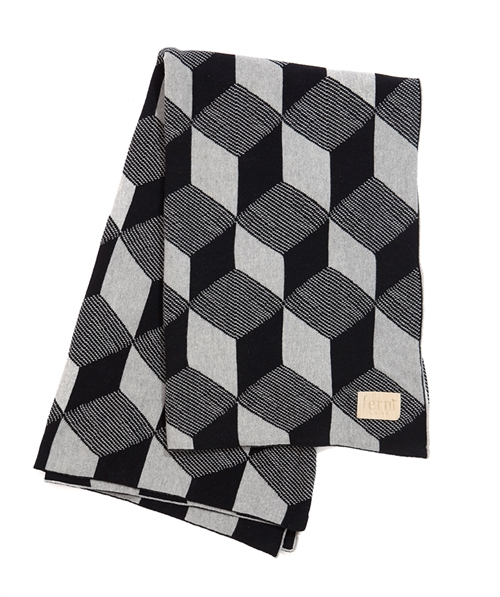 Ferm living, Squares Blanket, Black